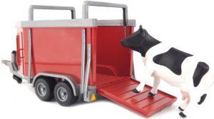 Bruder 2029 Vee aanhanger aanhangwagen met koe