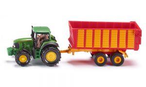 Siku 1650 - Tractor John Deere met silagewagen 1 : 87