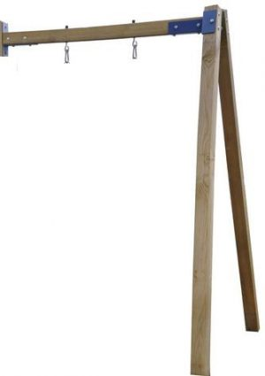Aanbouw mono-schommel hout incl. grondankers