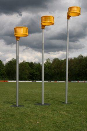 Aluminium korfbalpaal 2,5 m. incl. mand excl. voetplaat (IKF)