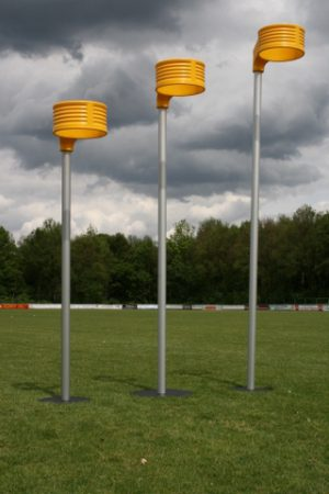 Aluminium korfbalpaal 3,5 m. incl. mand excl. voetplaat (IKF)