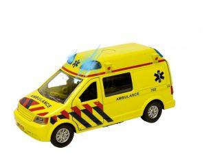 Ambulance Pull back met licht en geluid