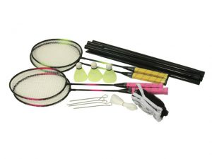 Badmintonset 4 rackets + net