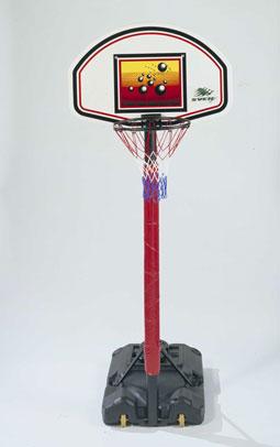 Basketbal-standaard Senior met anti-dunkring