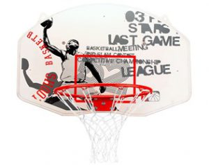 Basketbalbord met ring en net