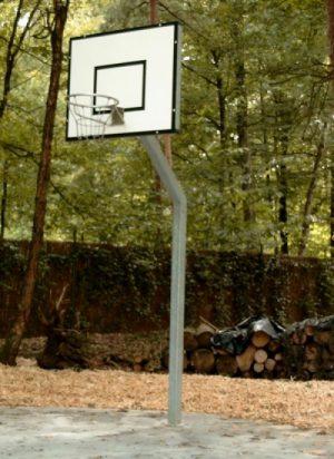 Basketbalpaal met bord Heavy Duty