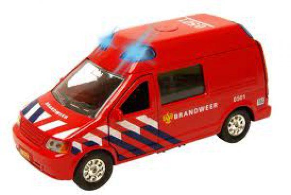 Brandweer-auto NL pull back met licht en geluid