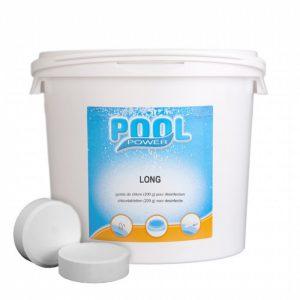 Chloortabletten Pool Power Long 5 kg.