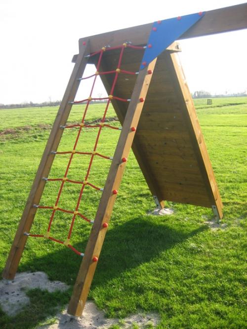 Aanbouw Klimmuur / klimnet voor Schommel Hout Zwaar