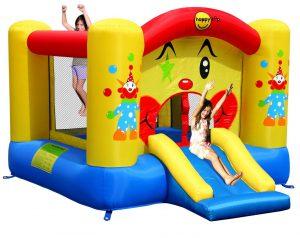 Springkussen Clown Slide & Hoop Bouncer