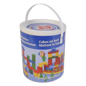 Blokkenset HEROS Combi-speelbox 75-delig