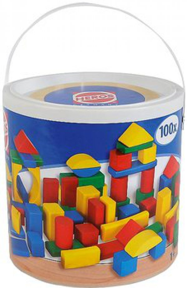 Blokken gekleurd 100 stuks