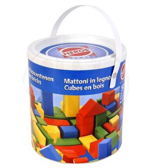 Blokken gekleurd 50 stuks