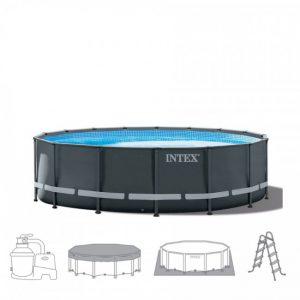 Intex Ultra XTR Frame Pool 488 x 122 cm. Compleet pakket (+ zandfilterpomp)