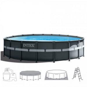 Intex Ultra XTR Frame Pool 549 cm. x 132 cm. Compleet pakket (+ zandfilterpomp)