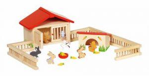 Konijnenren - accessoireset poppenhuis