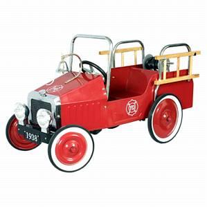 Metalen Trapauto Brandweerwagen