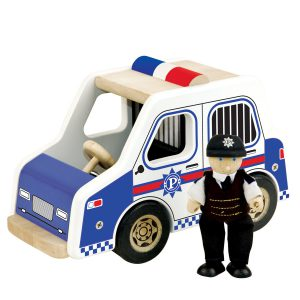 Houten Politie-auto Pintoy