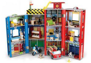 Houten speelgoedset voor grote kleine helden