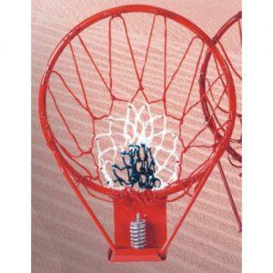 Basketbalring met veer - Massief staal 16 mm.