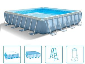 Intex Prism Frame Pool 488 x 488 cm.