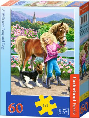 A walk with pony and dog - Castorland puzzel