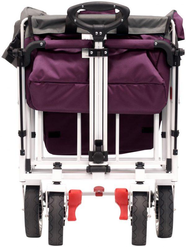 ACTIVE OUTDOOR Bolderkar Paars met zonnedak en extra bagagetas.