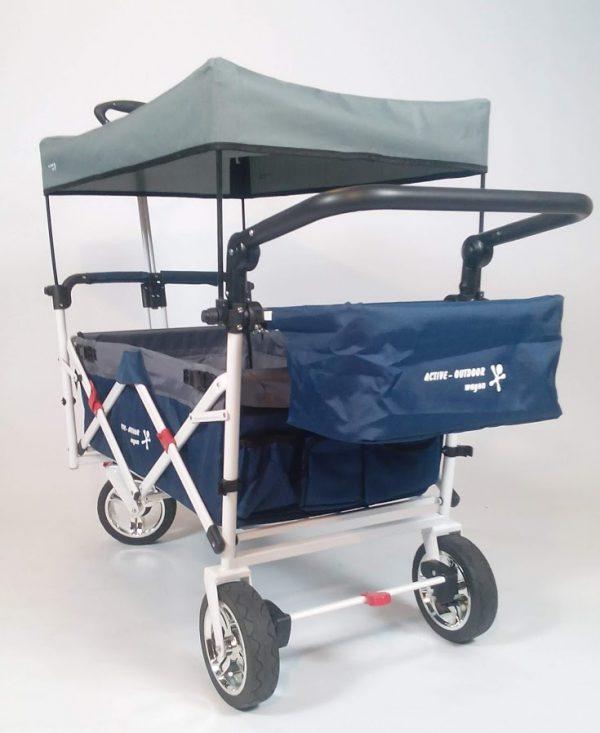 Active Outdoor Bolderkar Blauw incl. zonnedak en extra bagagetas