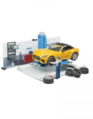 Bruder 62110 - Autowerkplaats-met-roadster